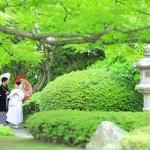 福岡,和装,洋装,前撮り,結婚式当日,,前撮り・松風園