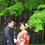 福岡,和装,洋装,前撮り,結婚式当日,,前撮り スタジオフィール 福岡 友泉亭公園