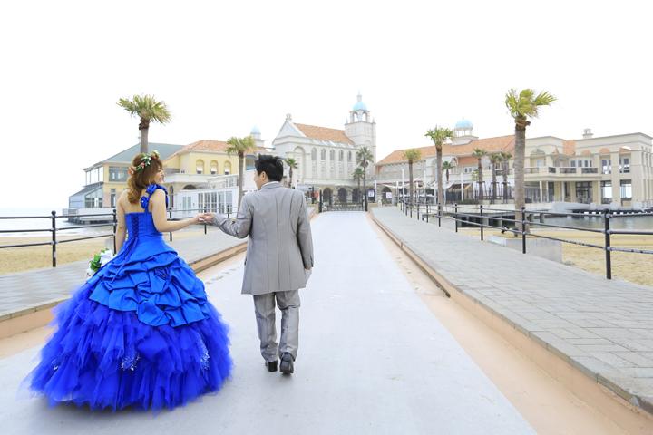 マリゾンでドレス撮影