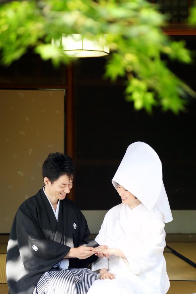 福岡、前撮り、和装、日本庭園、結婚写真、スタジオフィール
