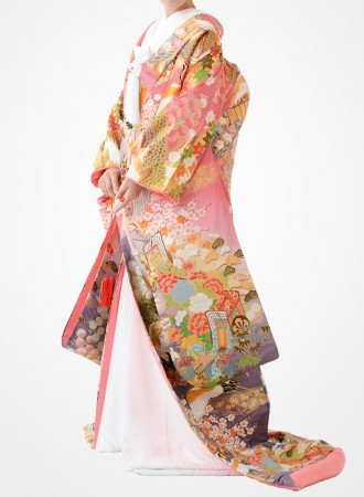 福岡色打掛けF-021 ピンク