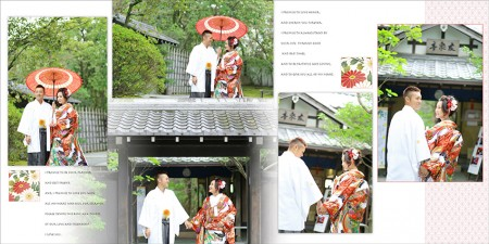 アルバム-デザインサンプル 和装・洋装前撮り No.9 福岡 25cmスクエア