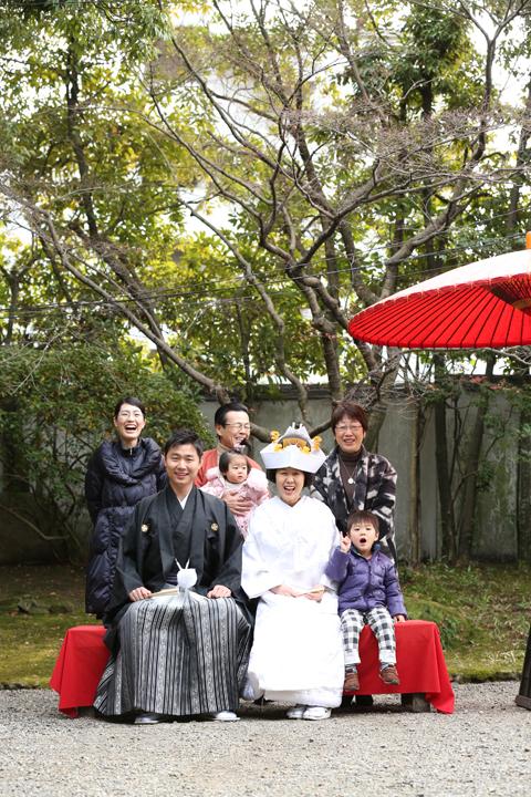 日本庭園 家族写真 前撮り