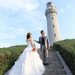 山口,和装,洋装,前撮り,結婚式当日,,海ロケーション山口県角島-06