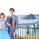 山口,和装,洋装,前撮り,結婚式当日,,海ロケーション山口県角島-03