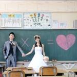 熊本,鹿児島,宮崎,和装,洋装,前撮り,結婚式当日,,母校黒板