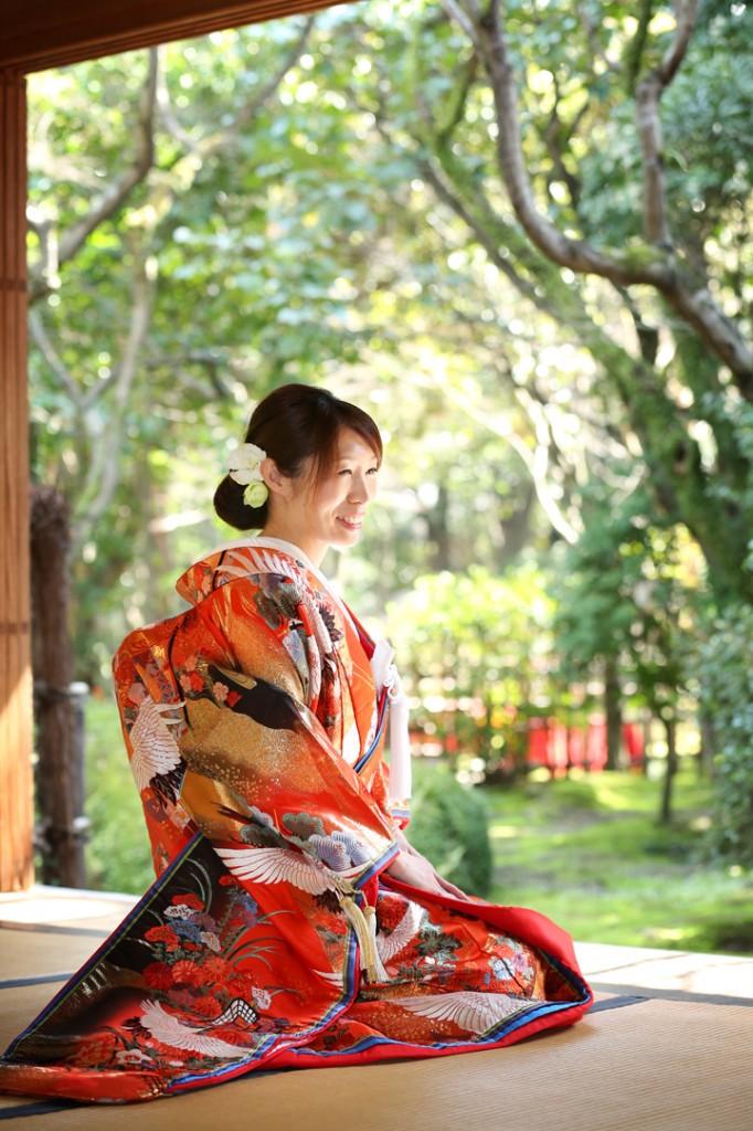 福岡 和装 前撮り 日本庭園