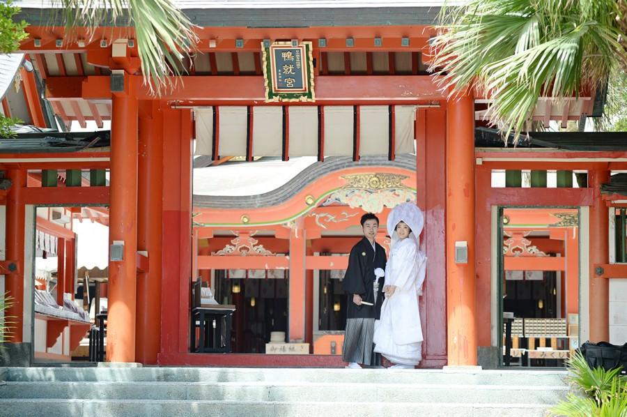 宮崎 青島神社 神社挙式 白無垢