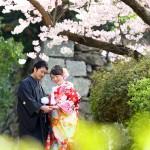 福岡,和装,洋装,前撮り,結婚式当日,,桜前撮りプラン-11