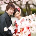 福岡,和装,洋装,前撮り,結婚式当日,,桜前撮りプラン-10