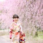 福岡,和装,洋装,前撮り,結婚式当日,,桜前撮りプラン-05