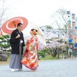 北九州,福岡,和装,洋装,前撮り,結婚式当日,,三柱神社・柳川市