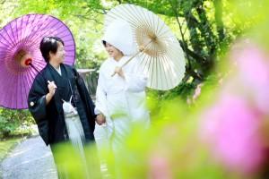 福岡 前撮り 日本庭園 和装 友泉亭