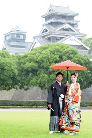 熊本 熊本城和装前撮り