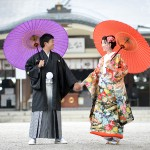 熊本,和装,洋装,前撮り,結婚式当日,,加藤神社02