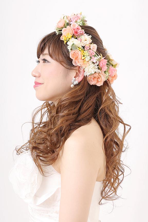 ドレス花嫁髪型