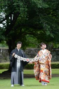 熊本城前撮り