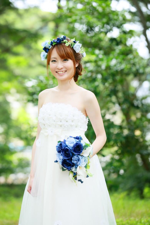 福岡 前撮り ドレス 洋装 海 志賀島 森