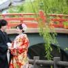三柱神社・赤い欄干橋