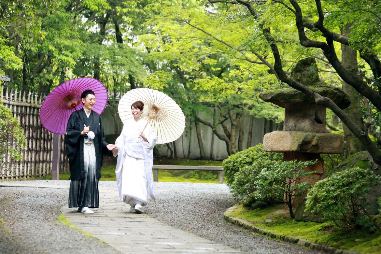 福岡 前撮り 友泉亭 日本庭園 和装