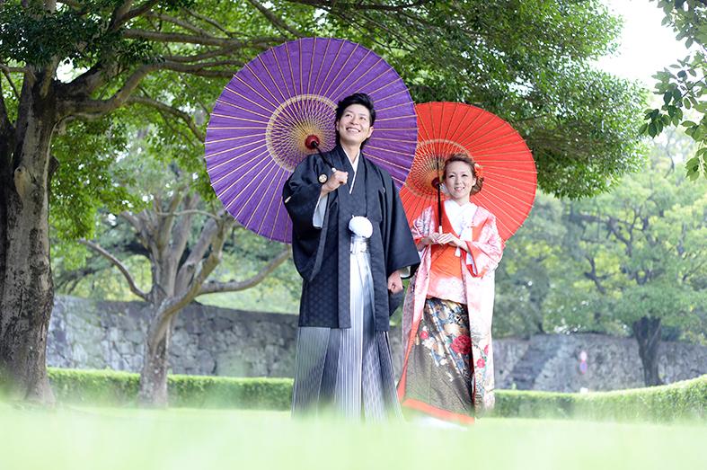 和装前撮り 熊本城