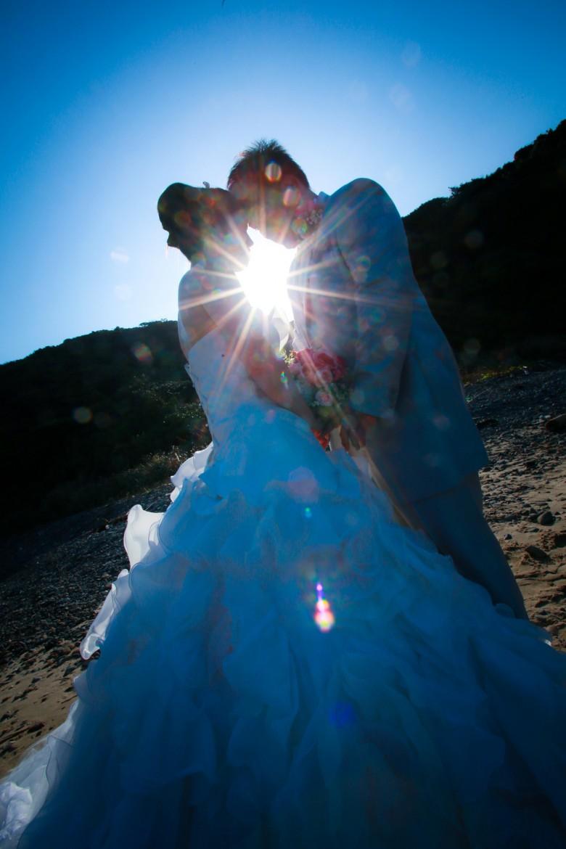 福岡 宗像市 大島 宗像大社 中津宮 前撮り ドレス 婚礼写真 自宅着付け 自宅撮影