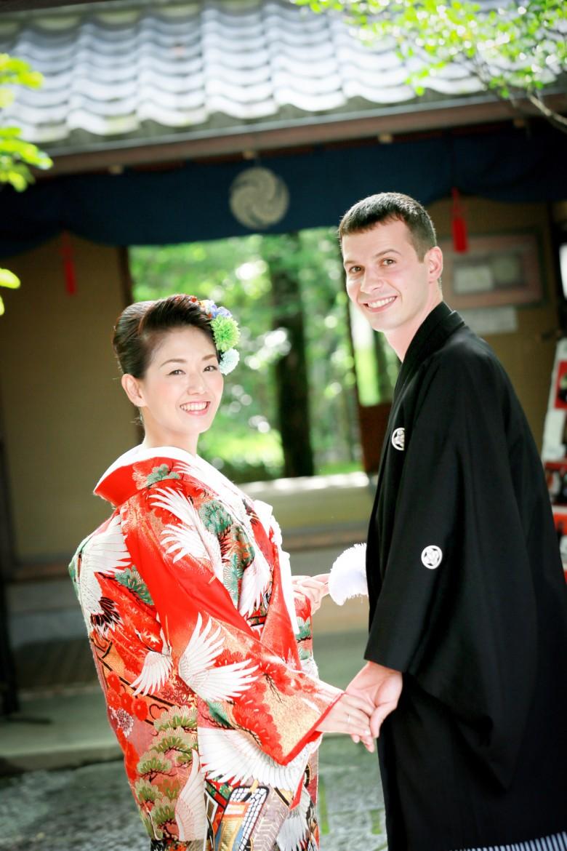 福岡 前撮り 和装 日本庭園 婚礼写真 友泉亭