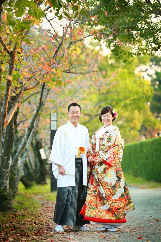 佐賀 和装前撮り 婚礼 自宅着付け 佐賀城