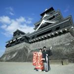 熊本,和装,洋装,前撮り,結婚式当日,,熊本城