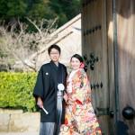 鹿児島,和装,洋装,前撮り,結婚式当日,,仙巌園