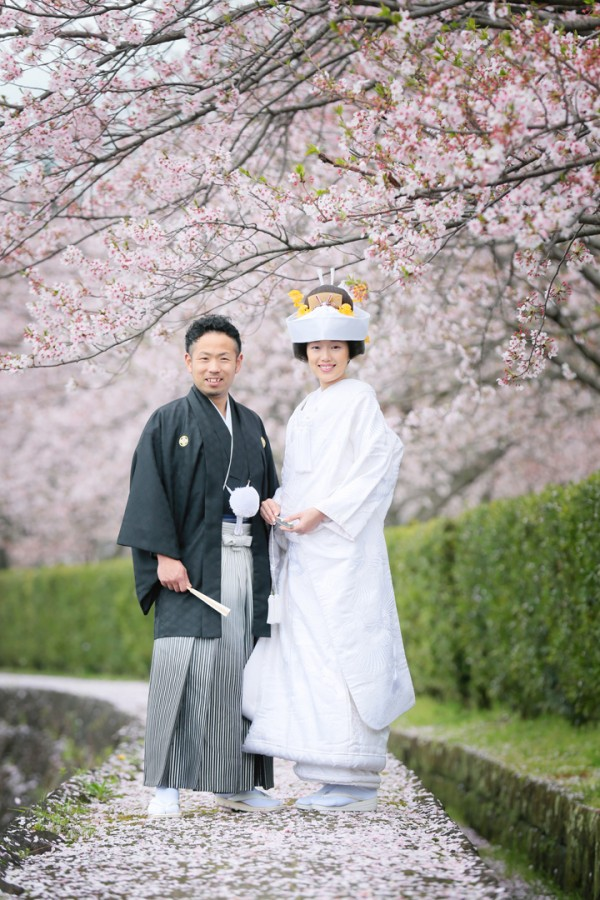 熊本 熊本城 桜 前撮り 和装 色打掛 白無垢 格安 データ