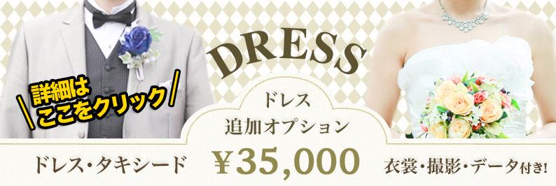ドレス撮影オプション