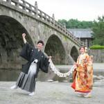 鹿児島,和装,洋装,前撮り,結婚式当日,,鹿児島石橋記念公園