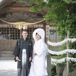 熊本,和装,洋装,前撮り,結婚式当日,,健軍神社