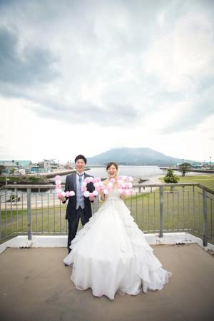 前撮り スタジオフィール 鹿児島 石橋記念公園 桜島