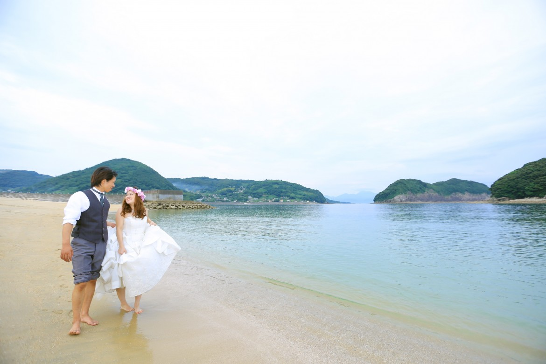 前撮り スタジオフィール 長崎 唯の浜マリンパーク