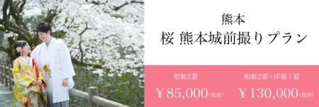 桜 前撮り 熊本城 スタジオフィール