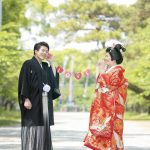 福岡,和装,洋装,前撮り,結婚式当日,,福岡 柳川 前撮り スタジオフィール