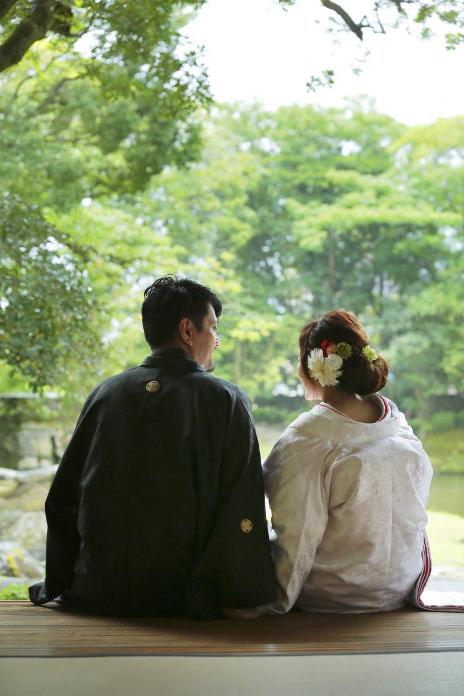 鹿児島 和装前撮り 日本庭園 スタジオフィール