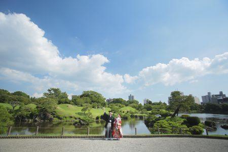 熊本 前撮り 水前寺公園 日本庭園 和装 スタジオフィール