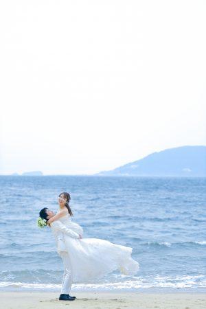 福岡 志賀島 ドレス前撮り スタジオフィール