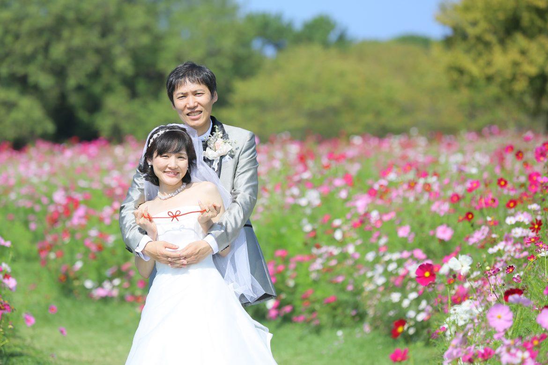 福岡 コスモス 海の中道海浜公園 ドレス 前撮り