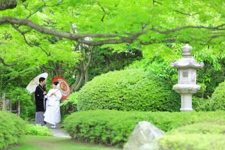 福岡 日本庭園前撮りプラン-前撮り・松風園