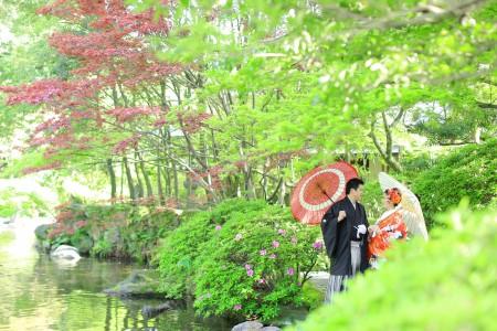 福岡 日本庭園前撮りプラン-前撮り スタジオフィール 福岡 友泉亭公園