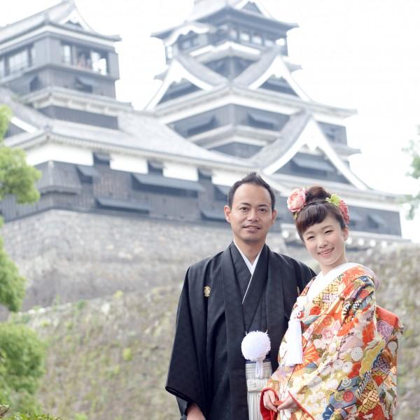 熊本,和装,洋装,前撮り,結婚式当日,,【震災後でも入ることが可能です】熊本城周辺 加藤神社でも撮影可能