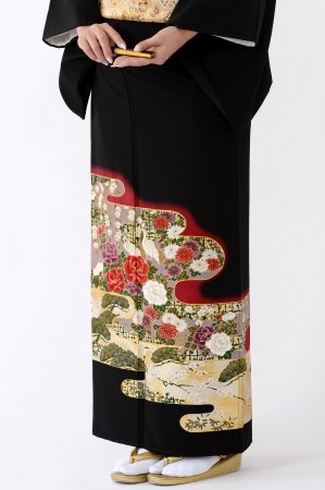 福岡黒留袖KT-4035