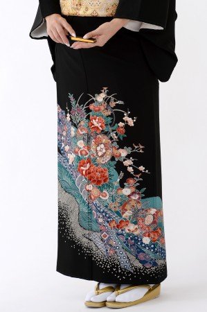福岡黒留袖KT-4046