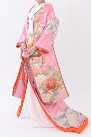 福岡色打掛けF-042 ピンク八重重ね