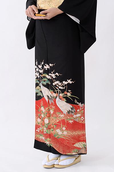 福岡黒留袖KT-4075