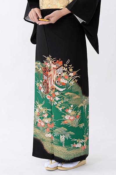 福岡黒留袖KT-4077